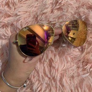Rose Gold Ray Bans